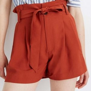 MADEWELL Rusty Torch Paperbag Drapey Shorts